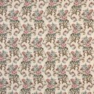 """54"""""""" Wide H858 Pink, Beige And Green, Floral Tapestry Upholstery Fabric By The Yard"""
