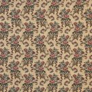 "54"""" Wide H859 Gold, Burgundy And Green, Floral Tapestry Upholstery Fabric By The Yard"
