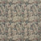 "54"""" Wide D568 Burgundy, Ivory And Green, Floral Leaf Tapestry Upholstery Fabric By The Yard"