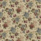 "54"""" Wide F900 Green, Red And Blue, Floral Tapestry Upholstery Fabric By The Yard"