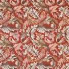 """54"""""""" Wide F902 Red, Blue And Green, Floral Leaves Tapestry Upholstery Fabric By The Yard"""