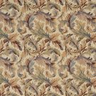 """54"""""""" Wide F904 Burgundy, Blue And Green, Floral Leaves Tapestry Upholstery Fabric By The Yard"""
