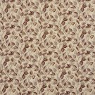 """54"""""""" Wide F913 Burgundy And Gold, Floral Leaves Tapestry Upholstery Fabric By The Yard"""