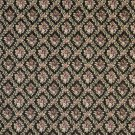 "54"""" Wide F916 Black, Red And Green, Floral Diamond Tapestry Upholstery Fabric By The Yard"
