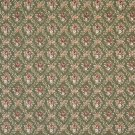 """54"""""""" Wide F918 Green And Burgundy, Floral Diamond Tapestry Upholstery Fabric By The Yard"""