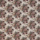 "54"""" Wide F928 Burgundy And Green, Floral Bouquet Tapestry Upholstery Fabric By The Yard"