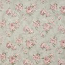 """54"""""""" Wide F807 Green And Pink, Pastel Floral Roses Jacquard Woven Upholstery Fabric By The Yard"""