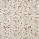 F816 Green Red Blue Gold Pastel Butterflies Flowers Jacquard Woven Upholstery Fabric By The Yard