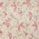 """54"""""""" Wide F819 Pink, Gold And White, Floral Leaves Jacquard Woven Upholstery Fabric By The Yard"""