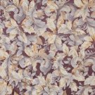 "54"""" Wide F820 Purple And Gold, Floral Leaves Jacquard Woven Upholstery Fabric By The Yard"