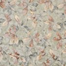 "54"""" Wide F823 Green, Brown And White, Floral Leaves Jacquard Woven Upholstery Fabric By The Yard"