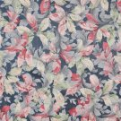 """54"""""""" Wide F824 Blue, Green, Ivory And Red, Floral Leaves Jacquard Woven Upholstery Fabric By The Yar"""