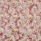"""54"""""""" Wide F832 Red, White And Green, Floral Garden Jacquard Woven Upholstery Fabric By The Yard"""