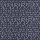 """54"""""""" Wide D313, Blue And Beige Vine Leaves Jacquard Woven Upholstery Fabric By The Yard"""