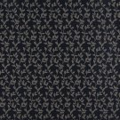 "54"""" Wide D324, Navy And Beige Vine Leaves Jacquard Woven Upholstery Fabric By The Yard"
