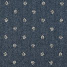 "54"""" Wide C600 Blue And Beige, Leaves Country Style Upholstery Fabric By The Yard"