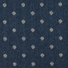 "54"""" Wide C604 Navy Blue And Beige, Leaves Country Style Upholstery Fabric By The Yard"