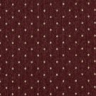"54"""" Wide C612 Burgundy And Beige, Dotted Country Style Upholstery Fabric By The Yard"