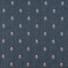 """54"""""""" Wide C620 Blue And Beige, Flowers Country Style Upholstery Fabric By The Yard"""