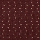 "54"""" Wide C632 Burgundy And Beige, Mini Flowers Country Style Upholstery Fabric By The Yard"