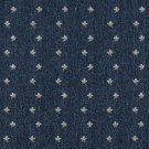 "54"""" Wide C634 Navy Blue And Beige, Mini Flowers Country Style Upholstery Fabric By The Yard"