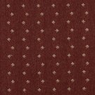 "54"""" Wide C636 Rustic Red And Beige, Mini Flowers Country Style Upholstery Fabric By The Yard"