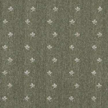 "54"""" Wide C638 Green And Beige, Mini Flowers Country Style Upholstery Fabric By The Yard"