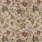 "54"""" Wide C660 Red Gold Beige Brown Flowers Leaves Vibrant Upholstery Grade Fabric By The Yard"