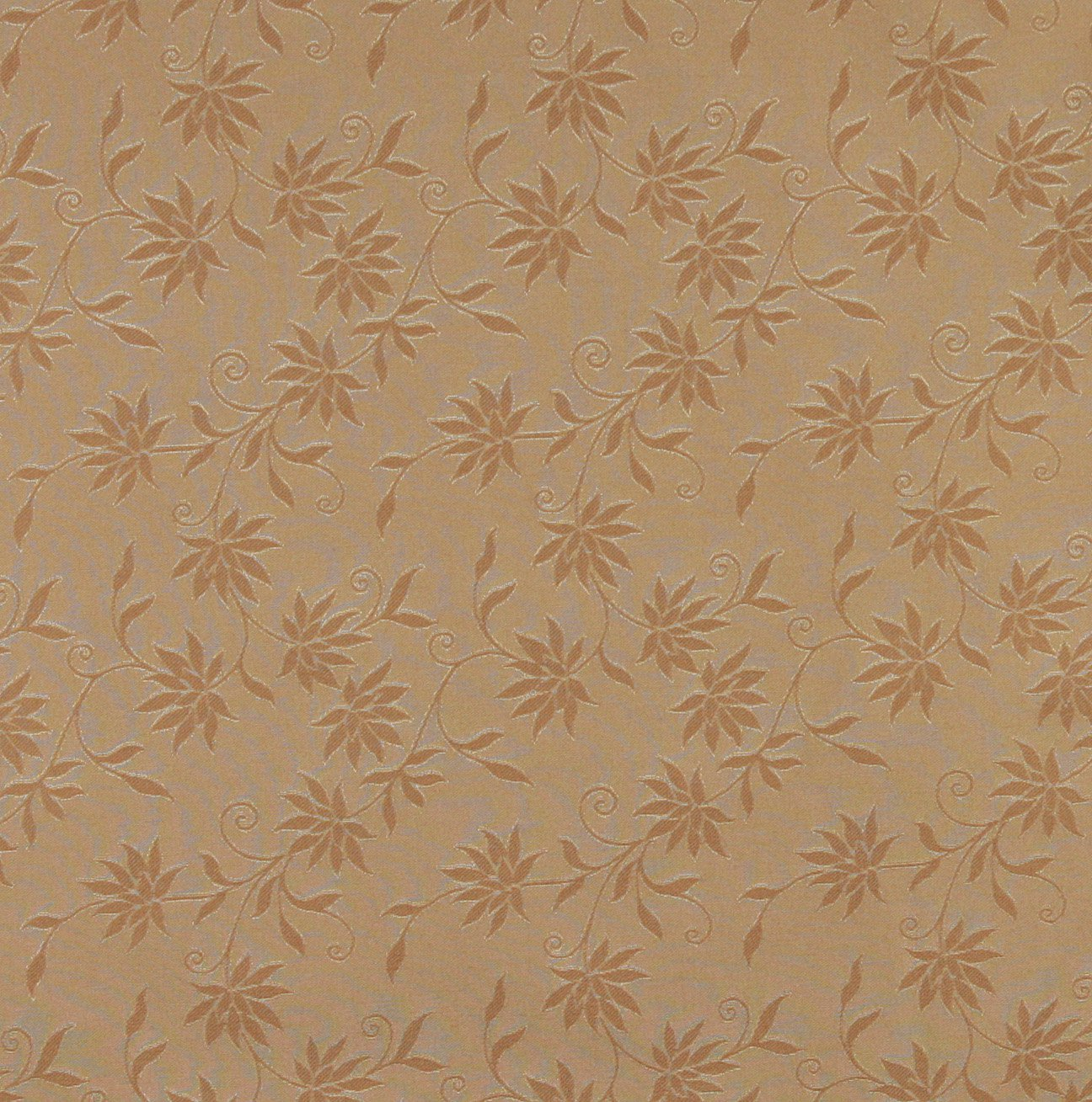 54 Wide C126 Gold Floral Jacquard Linen Look