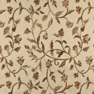 "54"""" Wide K0011E Beige Gold Brown Ivory Embroidered Floral Brocade Upholstery Fabric By The Yard"