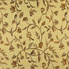 "54"""" Wide K0011H Gold Brown Ivory Embroidered Floral Brocade Upholstery Fabric By The Yard"