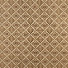 "54"""" Wide K0012E Beige Gold Brown Ivory Embroidered Diamond Brocade Upholstery Fabric By The Yard"