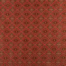 "54"""" Wide K0012G Red Brown Gold Ivory Embroidered Diamond Brocade Upholstery Fabric By The Yard"