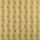"""54"""""""" Wide K0013H Gold Brown Ivory Embroidered Striped Floral Brocade Upholstery Fabric By The Yard"""