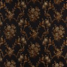 K0014C Midnight Gold Ivory Large Scale Embroidered Floral Brocade Upholstery Fabric By The Yard