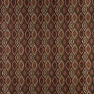 K0015B Brown Gold Persimmon Ivory Embroidered Pointed Oval Brocade Upholstery Fabric By The Yard