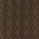 K0015C Midnight Gold Ivory Embroidered Pointed Oval Brocade Upholstery Fabric By The Yard