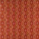 K0015G Red Brown Gold Ivory Embroidered Pointed Oval Brocade Upholstery Fabric By The Yard