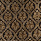 """54"""""""" Wide K0016C Midnight Gold Ivory Embroidered Traditional Brocade Upholstery Fabric By The Yard"""
