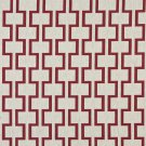 "54"""" Wide K0002A Red and Off White, Modern, Geometric Designer Quality Upholstery Fabric By The Yard"