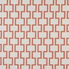 """54"""""""" Wide K0002C Persimmon Off White Modern Geometric Designer Quality Upholstery Fabric By The Yard"""