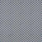 K0004E Blue Off White Herringbone Slanted Check Designer Quality Upholstery Fabric By The Yard