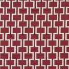 "54"""" Wide K0006A Red and Off White, Modern, Geometric Designer Quality Upholstery Fabric By The Yard"