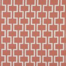 """54"""""""" Wide K0006C Persimmon Off White Modern Geometric Designer Quality Upholstery Fabric By The Yard"""