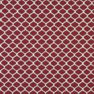 "54"""" Wide K0008A Red and Off White, Modern, Geometric, Designer Quality Upholstery Fabric By The Yar"