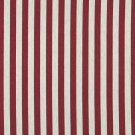 """54"""""""" Wide K0009A Red and Off White, Striped, Designer Quality Upholstery Fabric By The Yard"""