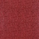 "54"""" Wide G251 Red, Intricate Floral Designed Upholstery Faux Leather By The Yard"