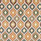 """54"""""""" Wide K0019A Red, Green, Blue, Orange and Gold, Bright Contemporary Upholstery Fabric By The Yar"""