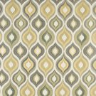 "54"""" Wide K0019B Gold, Blue and Green, Bright Contemporary Upholstery Fabric By The Yard"