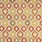 "54"""" Wide K0019C Gold, Red, Green and Orange, Bright Contemporary Upholstery Fabric By The Yard"